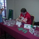 Mark sells his ITZ dials at the Miggle convention held in Memphis, TN