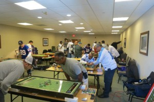A National Electric Football League game in Philadelphia shows the hobby can still attract a crowd.