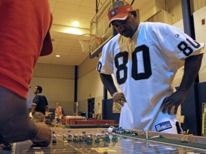 Corey Johnson began playing electric football with friends in the basement of his boyhood home. Now, he relives those memories on weekends while running a 32-person league in Philadelphia.
