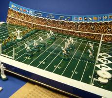 This Tudor Games electric football game from 1967 was the company's first to be an officially licensed NFL product. The NFL licensed electric football for the next 40 years. Earl Shores/The Unforgettable Buzz
