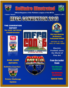 Solitaire Illustrated (download the issue) MFCA Convention 2013 and Solitaire Bowl Championships